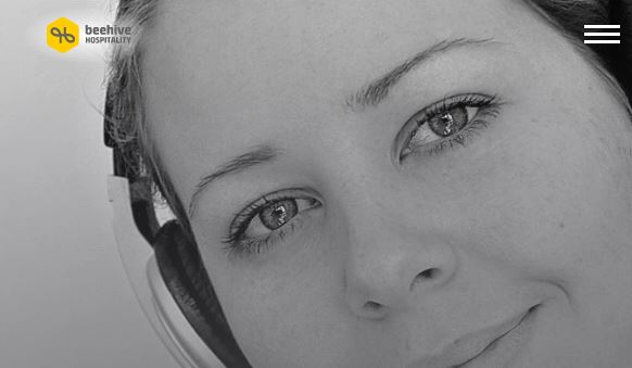 Closeup of Young Lady Wearing Headphones