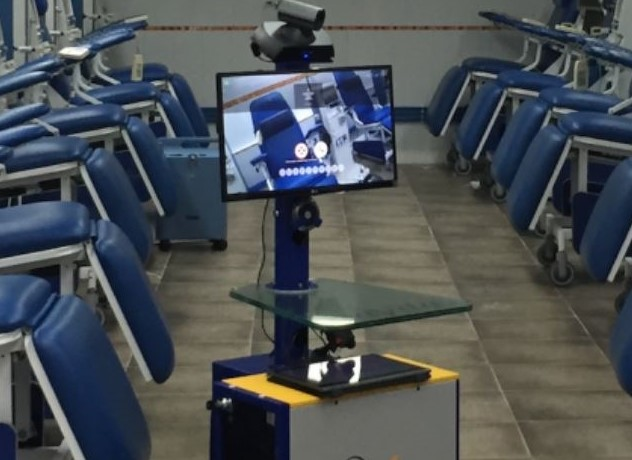 Remote Diagnostics Machine In Patients Waiting Room